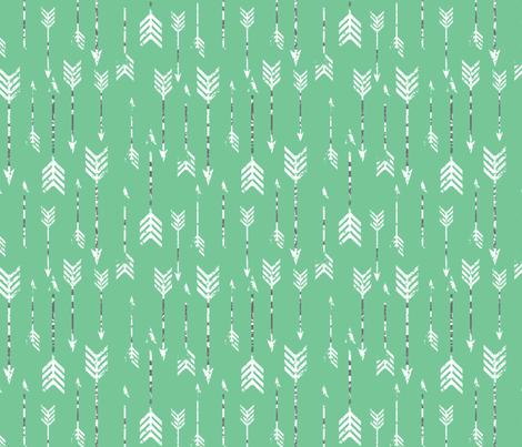 GreenArrows fabric by luckyapple on Spoonflower - custom fabric