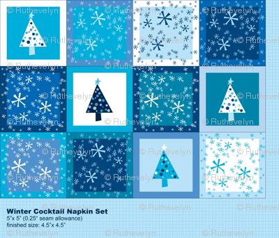 Winter Cocktail Napkin Set