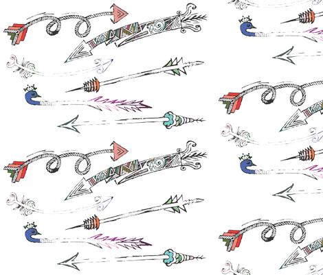 Battle of the Arrows fabric by kanikamathur on Spoonflower - custom fabric