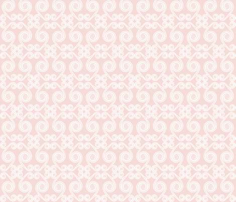 Curls in Light Pink fabric by claudiaowen on Spoonflower - custom fabric