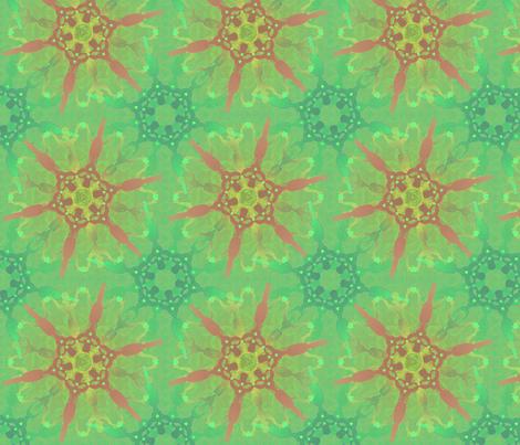 woman_on_fire16 fabric by glimmericks on Spoonflower - custom fabric