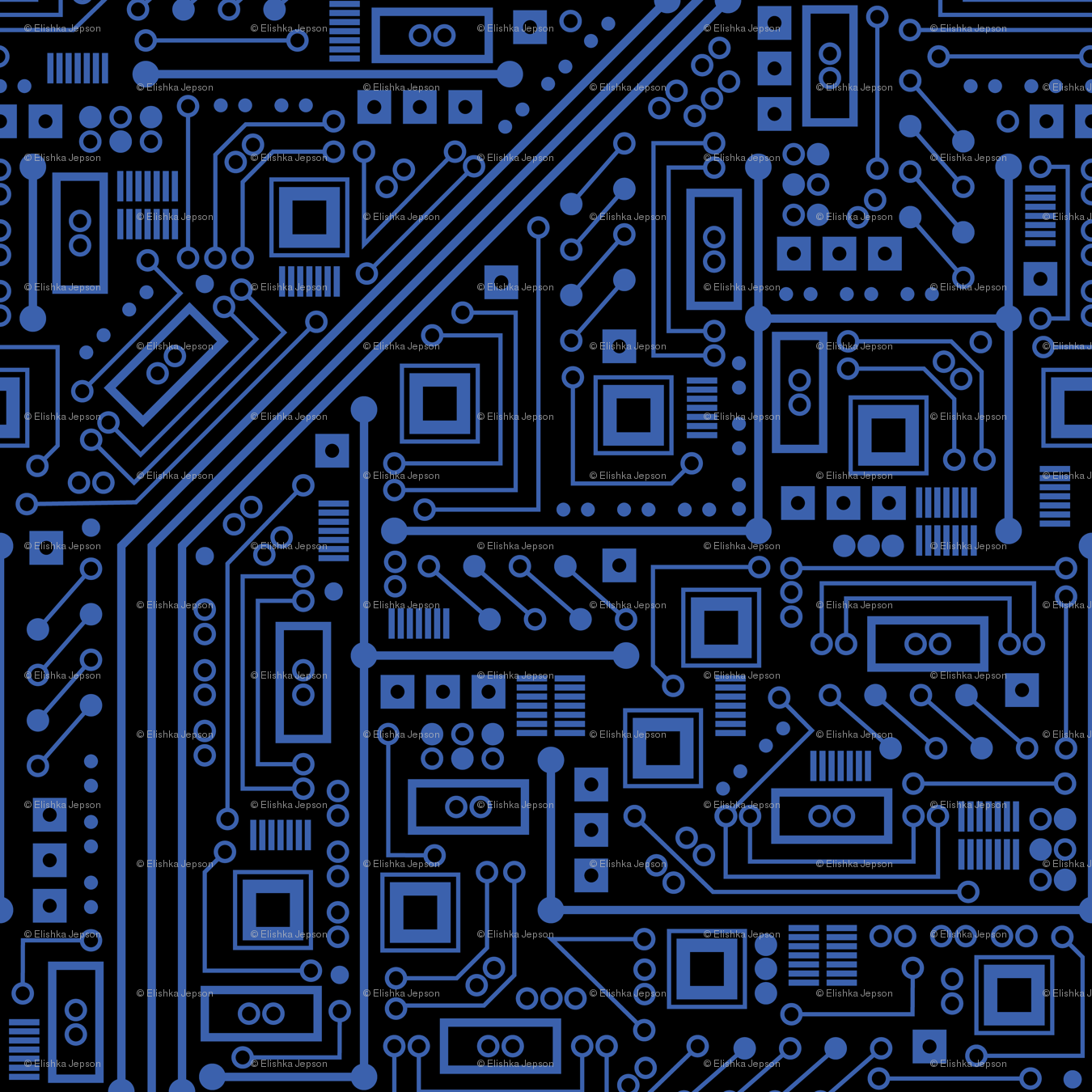Evil Robot Circuit Board Black And Blue Wallpaper Robyriker