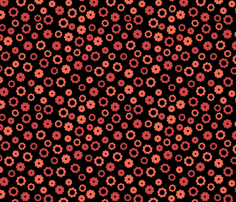 Evil Robot Gears (Black and Red) fabric by robyriker on Spoonflower - custom fabric
