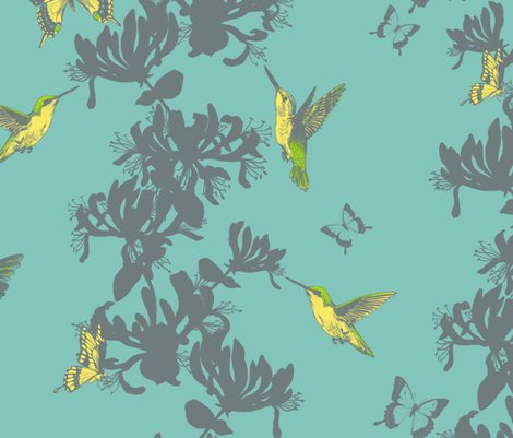 Rhummingbird_and_butterfly_floral_-_large_fixed_shop_preview