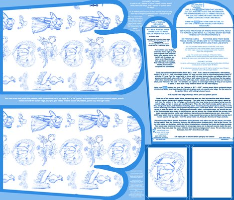 Aquabluetoileovenmittsfabricpatternfatquarterwithpaperpatternornamentpattern_shop_preview
