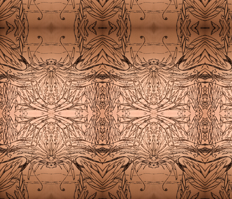 Abstract Marginalia Large Repeat fabric by walkwithmagistudio on Spoonflower - custom fabric