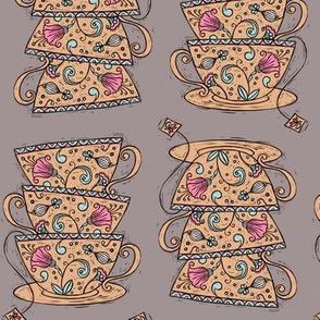 Teacups :: Mauve