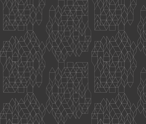 diamonds carbon fabric by randomarticle on Spoonflower - custom fabric