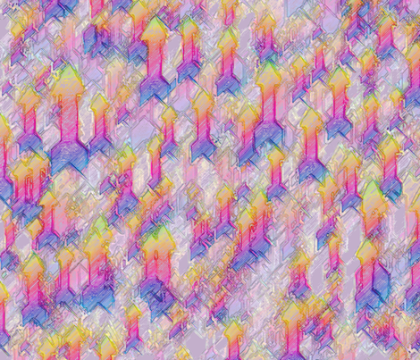 arrowlargestinkoutlinecolorpen22 fabric by wordfabric on Spoonflower - custom fabric
