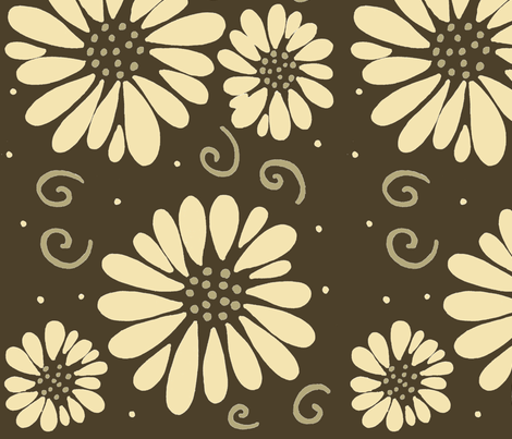 daisyfabricbrowns fabric by alyson_chase on Spoonflower - custom fabric