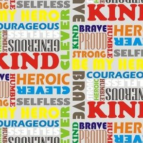 Heroic Words Colourful