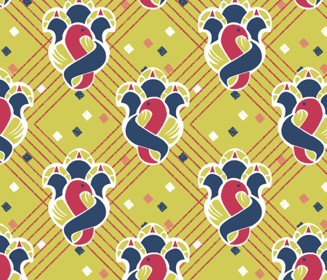 after_Matisse_100_greengold fabric by glimmericks on Spoonflower - custom fabric