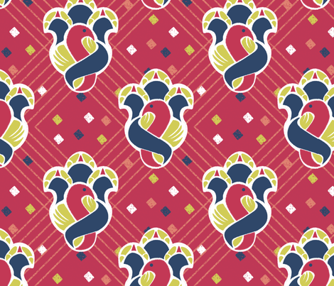 after_Matisse_100_red fabric by glimmericks on Spoonflower - custom fabric