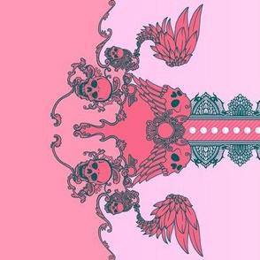 Skull Border Pink