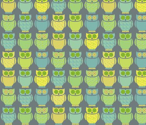Uhuuu fabric by ebygomm on Spoonflower - custom fabric