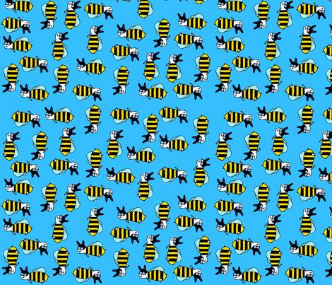 Super_Bees_3 fabric by modvibe on Spoonflower - custom fabric