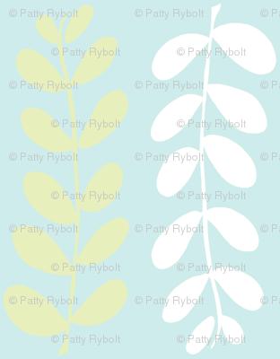Olive Branches (lime, Lt. Aqua & white)