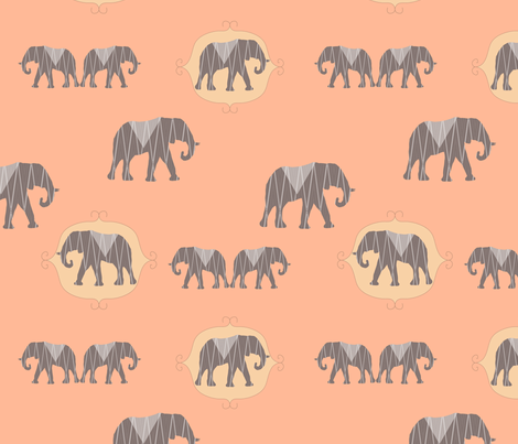 Elephant Love fabric by clairejean on Spoonflower - custom fabric