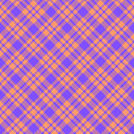Peach-periwinkle plaid fabric by anneostroff on Spoonflower - custom fabric