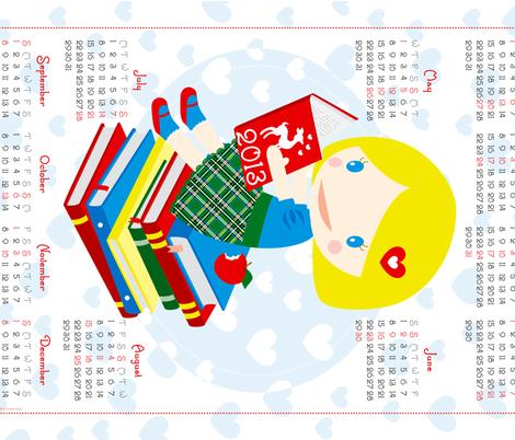 calendario2013 fabric by christinopia on Spoonflower - custom fabric