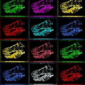 Bohemian Dinosaur | Vintage T-Rex Skull Rainbow X Ray