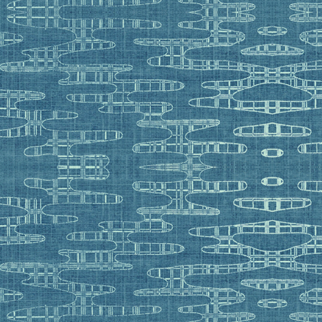 Reflecting Pools - Blue fabric by materialsgirl on Spoonflower - custom fabric