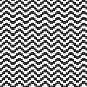 Brick Zigzag - Black and White