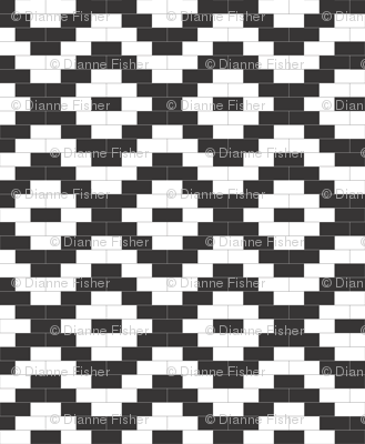 Brick Diamonds - black and white