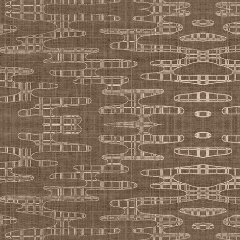Reflecting Pools - warm taupe & light beige fabric by materialsgirl on Spoonflower - custom fabric