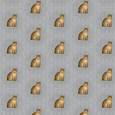 Tabbies fabric by the_cornish_crone on Spoonflower - custom fabric