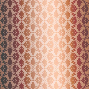 Golden Peach Damask