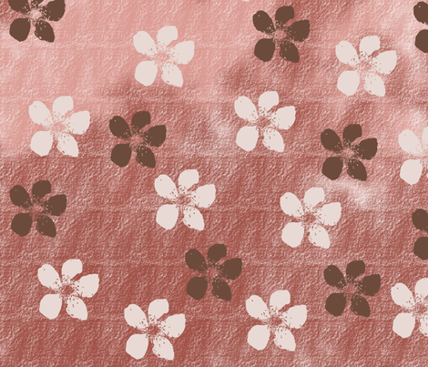 Pink and White Blossoms fabric by peacefuldreams on Spoonflower - custom fabric