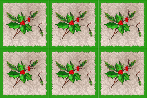 Christmas holly fabric by paragonstudios on Spoonflower - custom fabric
