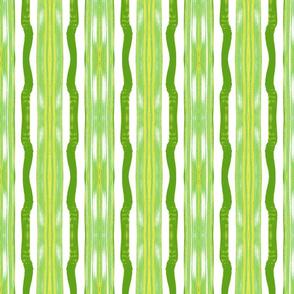 Three Flaxen Stripes, Green & Yellow