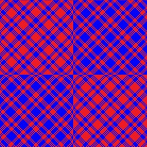 Red-blue plaids