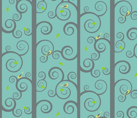 Fancy trees... fabric by shelleymade on Spoonflower - custom fabric