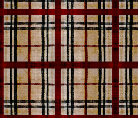 Plaid red box fabric by nascustomlife on Spoonflower - custom fabric