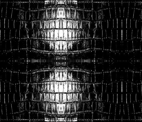 Black Croc fabric by nascustomlife on Spoonflower - custom fabric