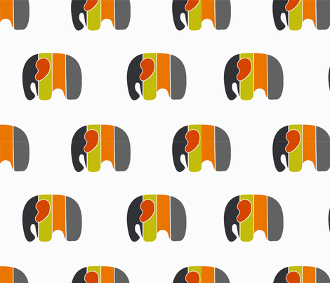 blocked elephant fabric by samanthakurland_gallacher on Spoonflower - custom fabric