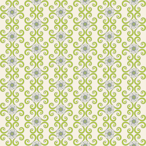 Dimpled Swirls in Chartreuse Green fabric by pearl&phire on Spoonflower - custom fabric