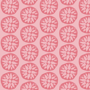 Flower Stamps - Coral/Pink