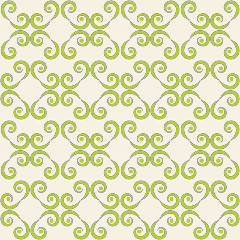Dotted Swirls in Chartreuse or Green fabric by pearl&phire on Spoonflower - custom fabric