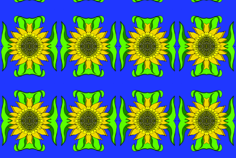 Sunflower fabric by snazzyfrogs on Spoonflower - custom fabric
