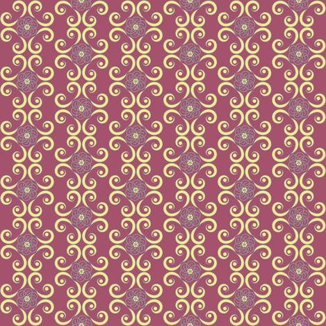 Dimpled Swirls in Yellow and Purple / Plum fabric by pearl&phire on Spoonflower - custom fabric