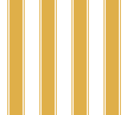 Chunky Stripes Cabana in Gold or Honey fabric by fridabarlow on Spoonflower - custom fabric