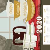 2020 Pyrex Calendar Towel