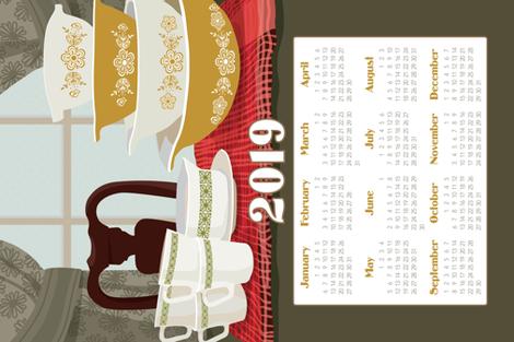 2019 Pyrex Calendar Towel fabric by richardcreative on Spoonflower - custom fabric