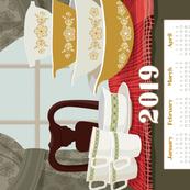2019 Pyrex Calendar Towel