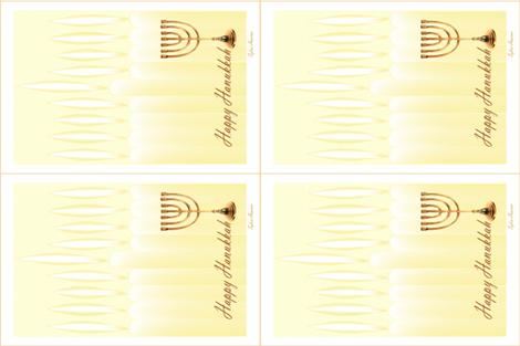 Hanukkah Tea Towels by Sylvie fabric by house_of_heasman on Spoonflower - custom fabric