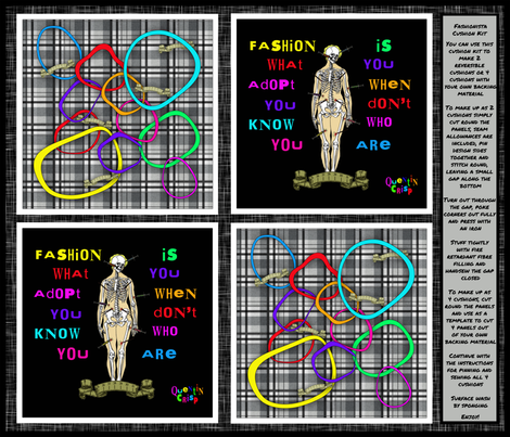 Fashionista Cushion fabric by glanoramay on Spoonflower - custom fabric